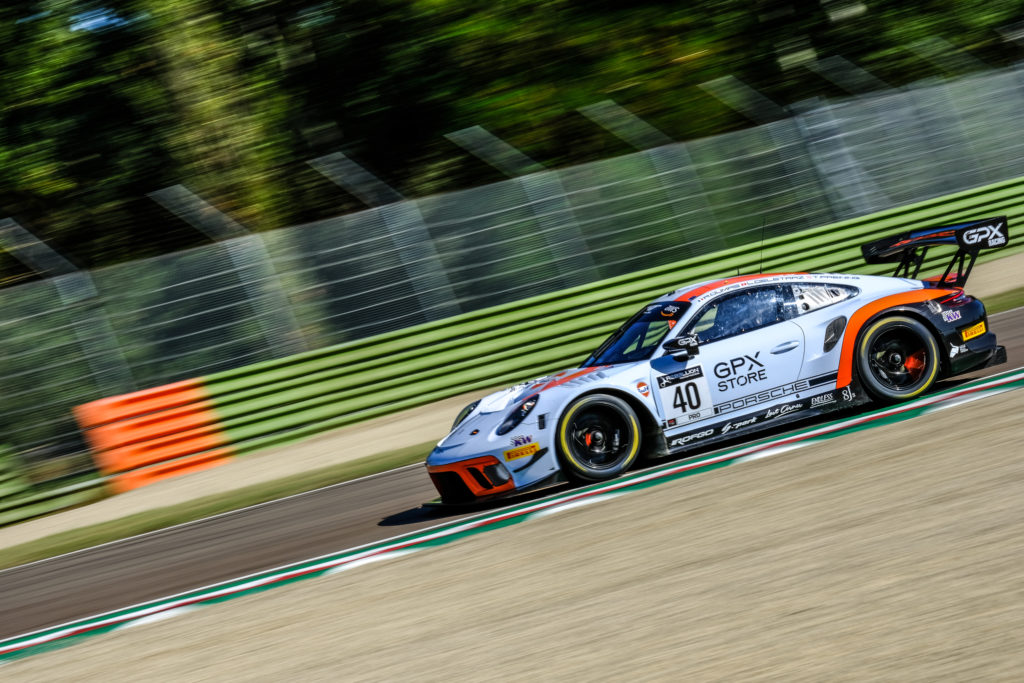 Louis Delétraz Thomas Preining Romain Dumas GPX Racing Porsche 911 GT3 R GT World Challenge Europe Endurance Cup Imola