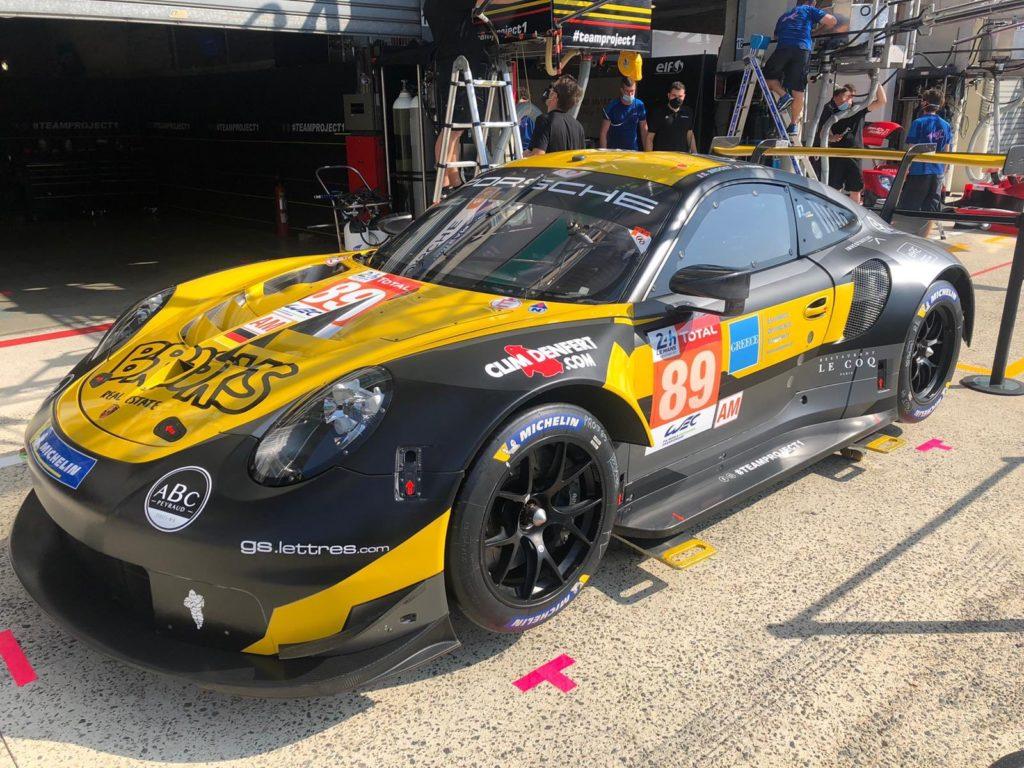 """""""Steve Brooks"""", Julien Piguet Andreas Laskaratos Project 1 Porsche 911 RSR 24h Le Mans"""