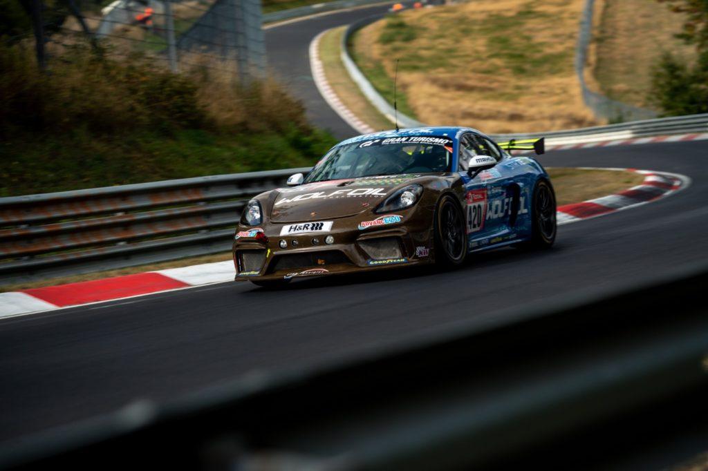 Matthias Beckwermert Henrik Bollerslev Nicola Bravetti Marco Timbal Four Motors Bioconcept-Car Porsche 718 Cayman GT4 Clubsport MR 24h Nürburgring