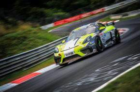 Daniel Blickle Niklas Steinhaus Der Bommel W&S Motorsport Porsche 718 Cayman GT4 Clubsport Nürburgring Langstrecken-Serie Nürburgring-Nordschleife