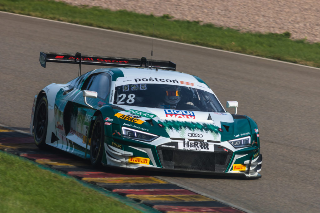 Max Hofer Christopher Haase Montaplast by Land-Motorsport Audi R8 LMS GT3 ADAC GT Masters Sachsenring