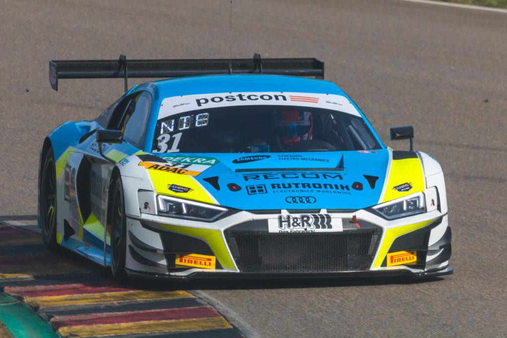 Patric Niederhauser Kelvin van der Linde Rutronik Racing Audi R8 LMS GT3 ADAC GT Masters Sachsenring