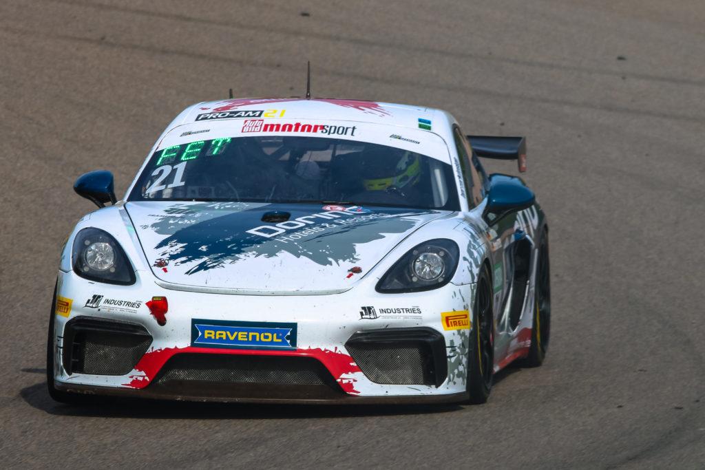 Dennis Fetzer Joel Sturm Allied-Racing Porsche 718 Cayman GT4 Clubsport MR ADAC GT4 Germany Sachsenring