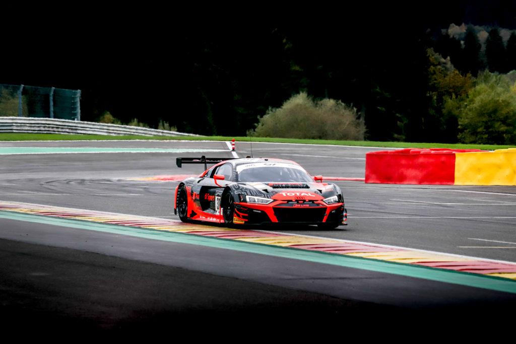 Mirko Bortolotti Kelvin van der Linde Dries Vanthoor Audi Sport Team WRT Audi R8 LMS GT3 GT World Challenge Europe 24h Spa