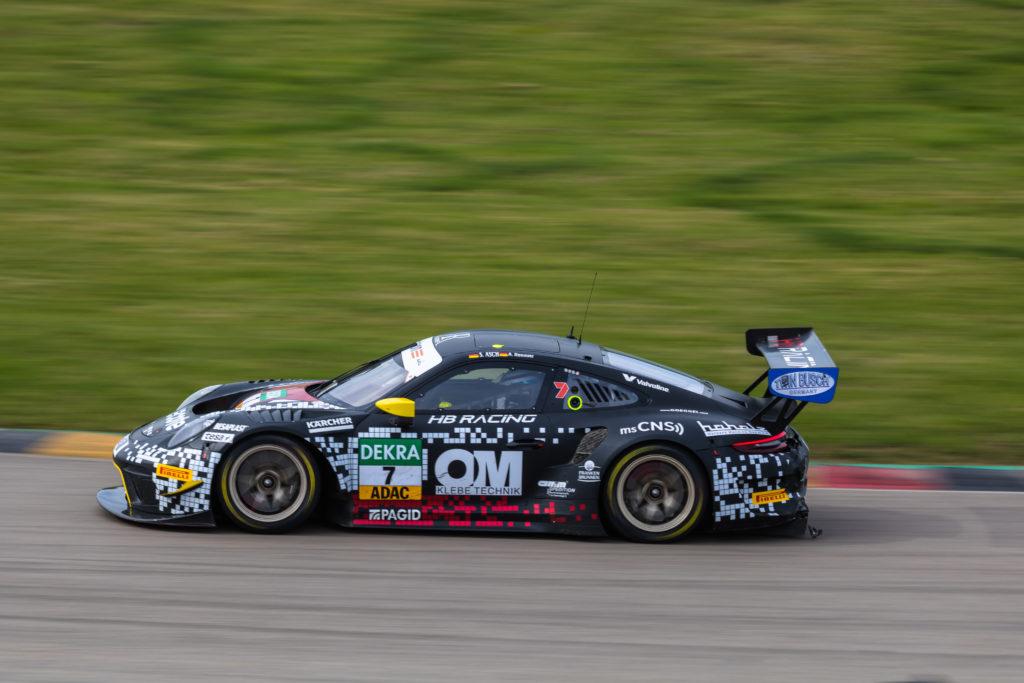 Alfred Renauer Sebastian Asch Herberth Motorsport Porsche 911 GT3 R ADAC GT Masters Sachsenring