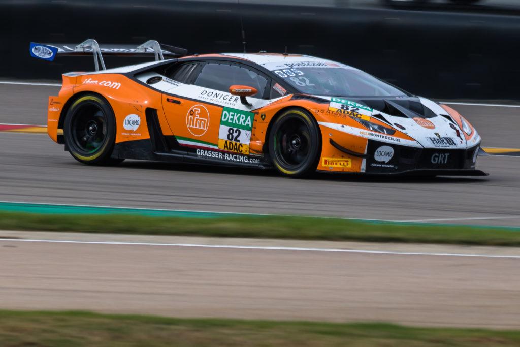 Steijn Schothorst Tim Zimmermann Grasser Racing Team Lamborghini Huracan GT3 ADAC GT Masters Sachsenring