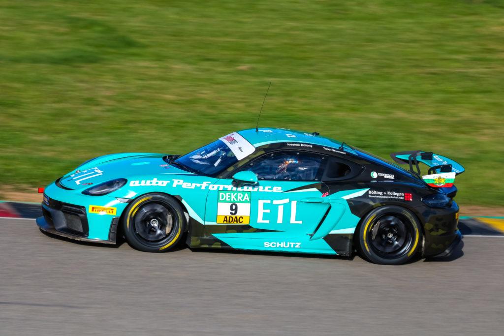 Tano Neumann Joachim Bölting Schütz Motorsport Porsche 718 Cayman GT4 Clubsport MR ADAC GT4 Germany Sachsenring