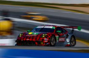 Dennis Olsen Zacharie Robichon Lars Kern Pfaff Motorsports Porsche 911 GT3 R IMSA WeatherTech SportsCar Championship Road Atlanta