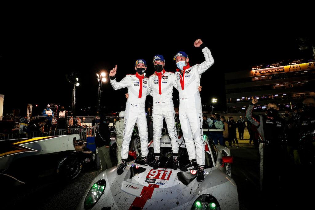 Nick Tandy Frédéric Makowiecki Matt Campbell Porsche GT Team Porsche 911 RSR IMSA WeatherTech SportsCar Championship Road Atlanta