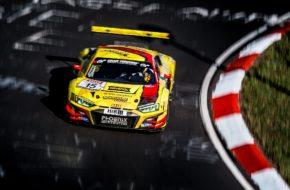 Kim-Luis Schramm Jules Gounon Jamie Green Phoenix Racing Audi R8 LMS GT3 Nürburgring Langstrecken-Serie Nürburgring-Nordschleife