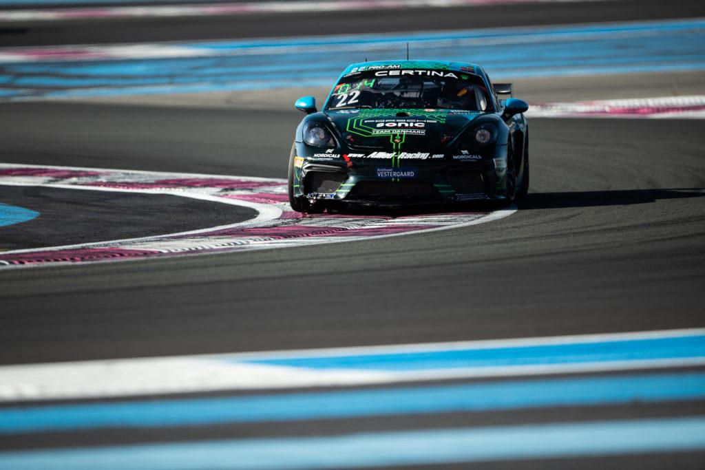 Jan Kasperlik Bastian Buus Allied-Racing Porsche 718 Cayman GT4 Clubsport MR GT4 European Series Le Castellet