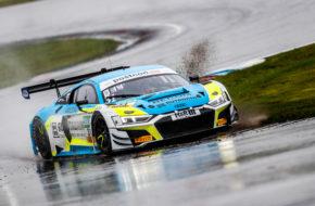 Patric Niederhauser Kelvin van der Linde Rutronik Racing Audi R8 LMS GT3 ADAC GT Masters Lausitzring
