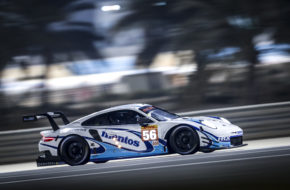 Egidio Perfetti Larry ten Voorde Jörg Bergmeister Team Project 1 Porsche 911 RSR FIA WEC Sakhir