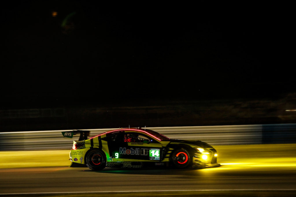 Aaron Telitz Jack Hawksworth Kyle Kirkwood AIM Vasser Sullivan Lexus RC F GT3 IMSA WeatherTech SportsCar Championship Sebring