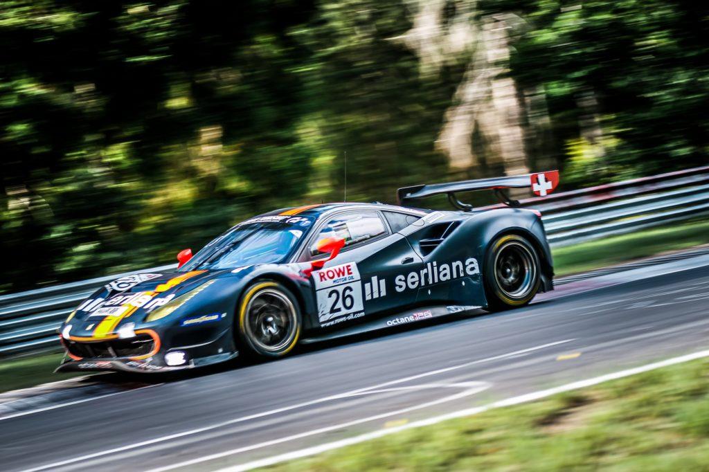 Björn Grossmann Luca Ludwig Octane 126 Ferrari 488 GT3 Nürburgring Langstrecken-Serie Nürburgring-Nordschleife