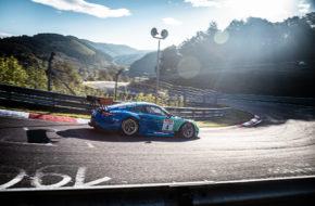 Klaus Bachler Matteo Cairoli Peter Dumbreck Martin Ragginger Falken Motorsport Porsche 911 GT3 R Nürburgring Langstrecken-Serie Nürburgring-Nordschleife
