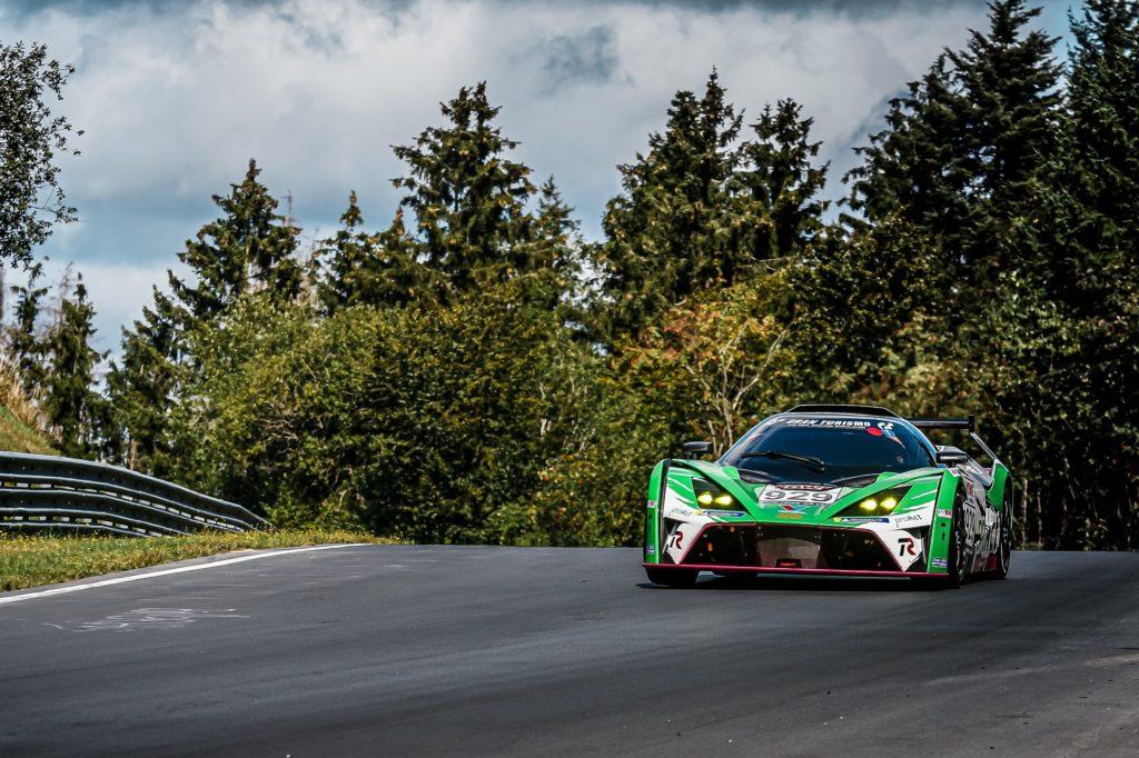Maik Rönnefarth Osman Ercan Kara Hendrik Still Teichmann Racing KTM X-Bow GT4 Nürburgring Langstrecken-Serie Nürburgring-Nordschleife