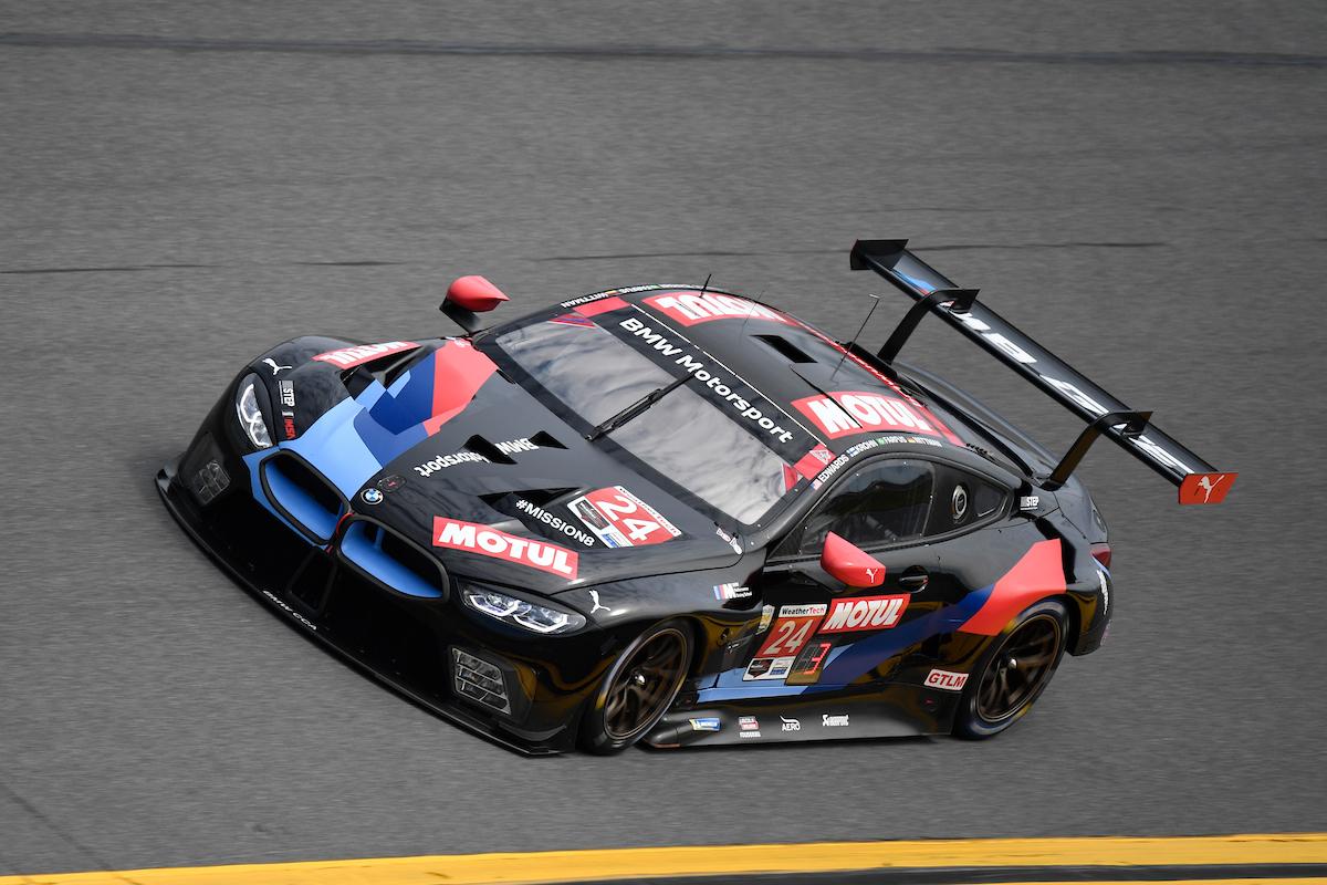 John Edwards Jesse Krohn Augusto Farfus Marco Wittmann BMW Team RLL BMW M8 GTE IMSA WeatherTech SportsCar Championship ROAR Daytona