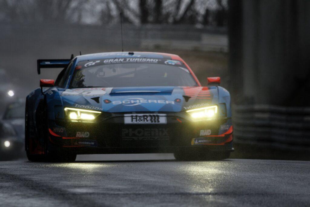 Frank Stippler Vincent Kolb Kim Luis Schramm Phoenix Racing Audi R8 LMS GT3 Nürburgring Langstrecken-Serie Nürburgring-Nordschleife