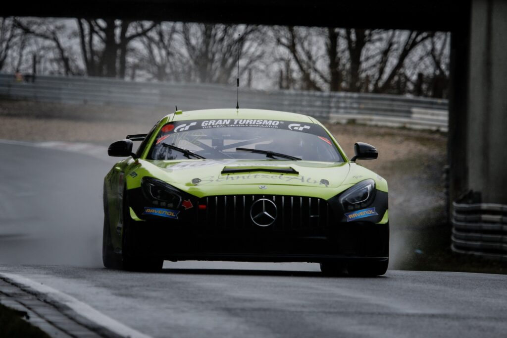 Marcel Marchewicz Fidel Leib Reinhold Renger Schnitzelalm Racing Mercedes-AMG GT4 Nürburgring Langstrecken-Serie Nürburgring-Nordschleife
