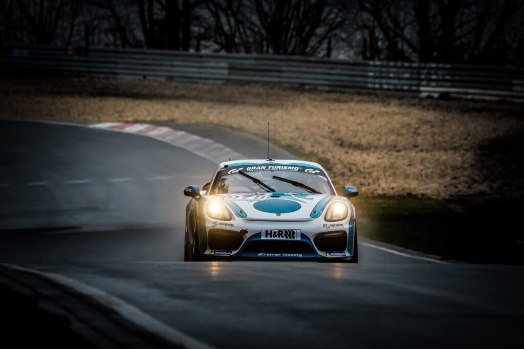 Yevgen Sokolovskiy Danny Lehner Karsten Krämer KKrämer Racing Porsche 718 Cayman GT4 Clubsport MR Nürburgring Langstrecken-Serie Nürburgring-Nordschleife