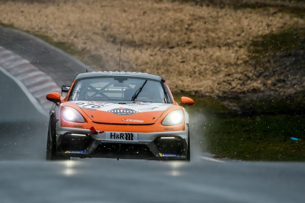 Ben Bünnagel Nico Otto Nick Wüstenhagen FK Performance Porsche 718 Cayman GT4 Clubsport MR Nürburgring Langstrecken-Serie Nürburgring-Nordschleife