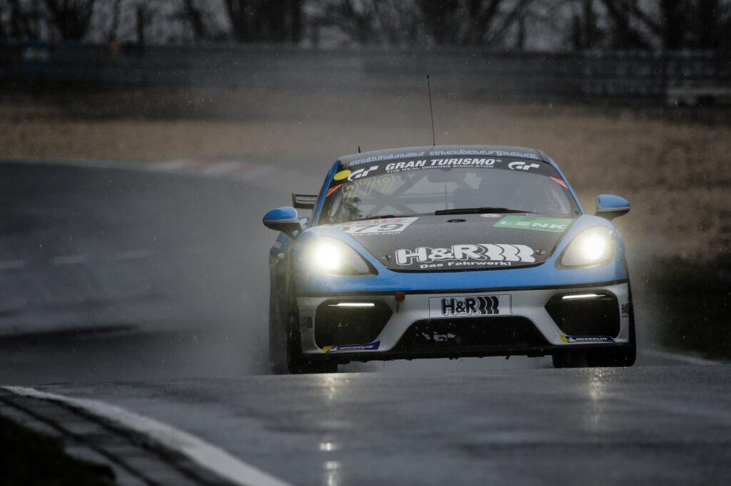 Marcel Hoppe Michael Rebhan Mühlner Motorsport Porsche 718 Cayman GT4 Clubsport MR Nürburgring Langstrecken-Serie Nürburgring-Nordschleife