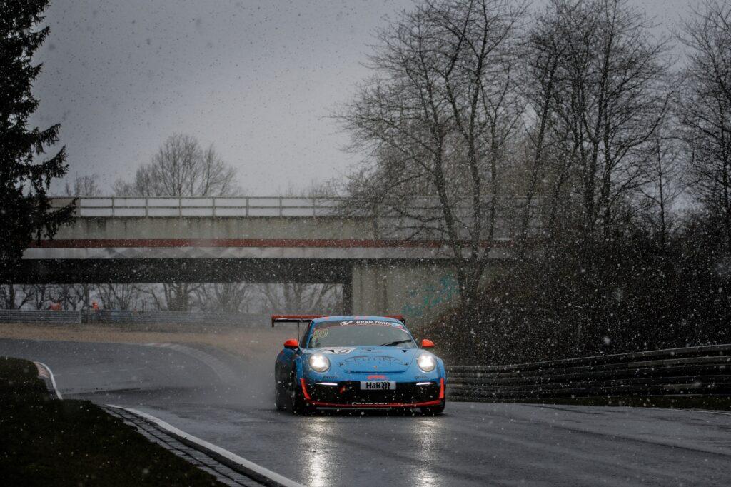 Achim Thyssen Hans Wehrmann Klaus Rader Huber Motorsport Porsche 911 GT3 Cup Nürburgring Langstrecken-Serie Nürburgring-Nordschleife