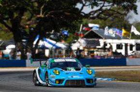 Trent Hindman Patrick Long Jan Heylen Wright Motorsports Porsche 911 GT3 R IMSA WeatherTech SportsCar Championship Sebring