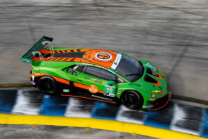 Stephen Simpson Tim Zimmermann Franck Perera Grasser Racing Team Lamborghini Huracan GT3 IMSA WeatherTech SportsCar Championship Sebring