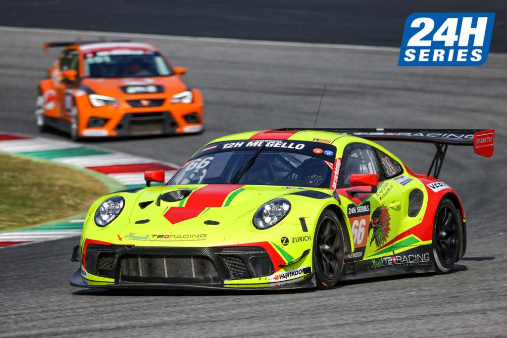 Pieder Decurtins Manuel Lauck Marc Basseng Haegeli by T2 Racing Porsche 911 GT3 R 24H Series Mugello