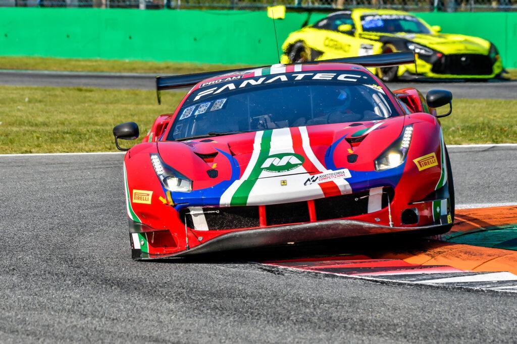 Lorenzo Bontempelli Louis Machiels Andrea Bertolini AF Corse Ferrari 488 GT3 GT World Challenge Europe Endurance Cup Monza