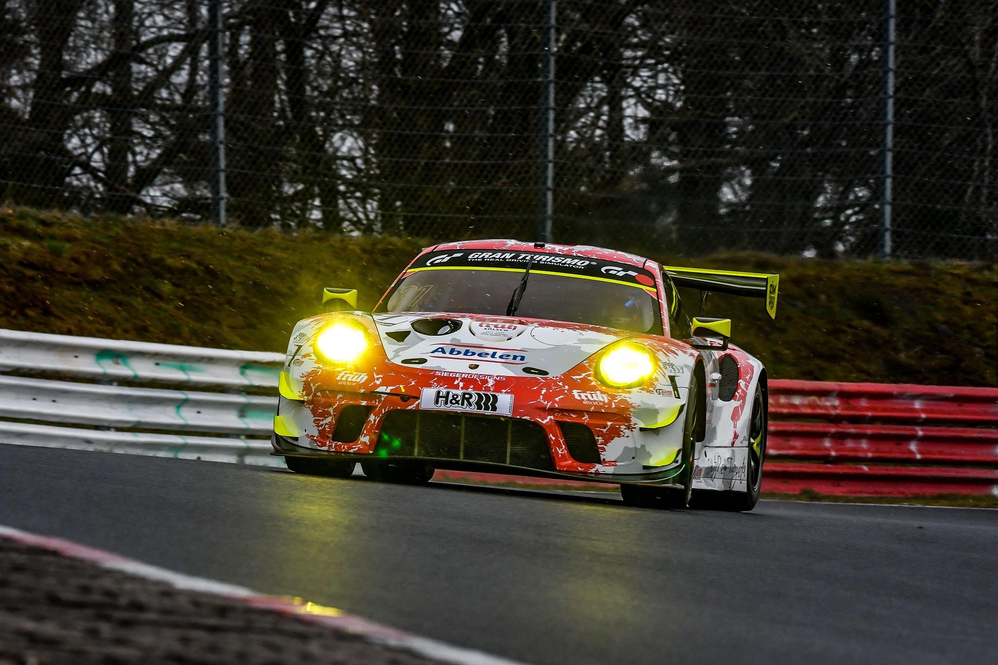 Matt Campbell Earl Bamber Frikadelli Racing Team Porsche 911 GT3 R Nürburgring Langstrecken-Serie Nürburgring-Nordschleife
