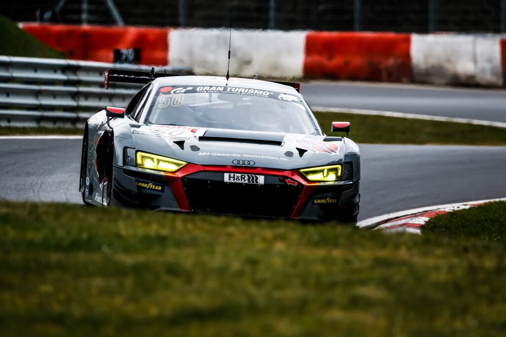 Michael heimrich Arno Klasen Rudi Adams équipe vitesse Audi R8 LMS GT3 Nürburgring Langstrecken-Serie Nürburgring-Nordschleife