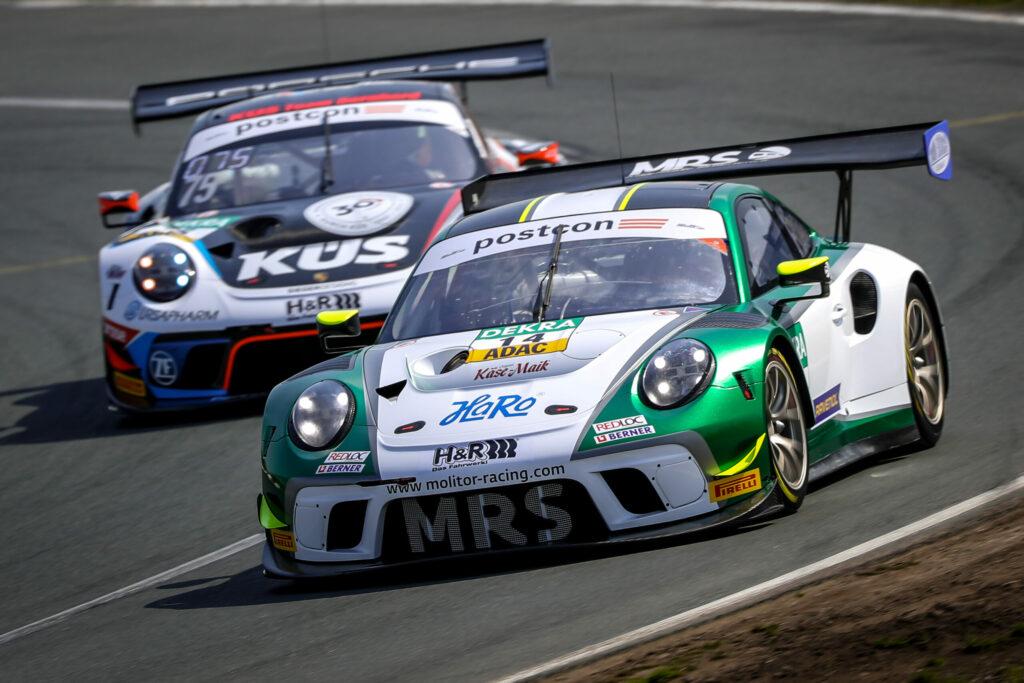 Maximilian Hackländer Mick Wishofer MRS GT-Racing Porsche 911 GT3 R ADAC GT Masters Oschersleben