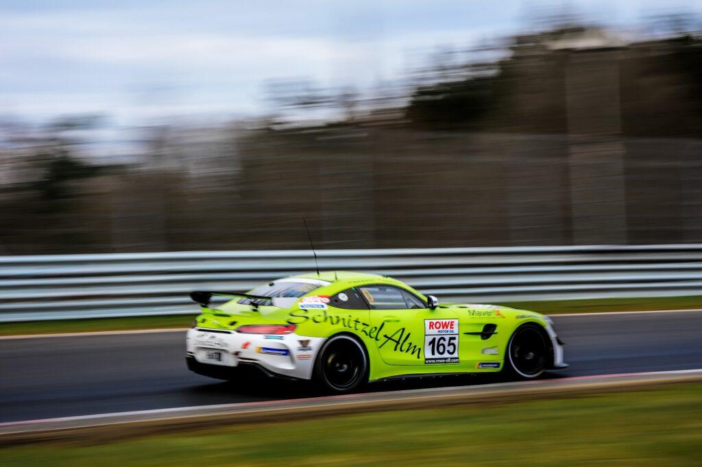 Tim Neuser Marek Böckmann Roland Froese Schnitzelalm Racing Mercedes-AMG GT4 Nürburgring Langstrecken-Serie Nürburgring-Nordschleife
