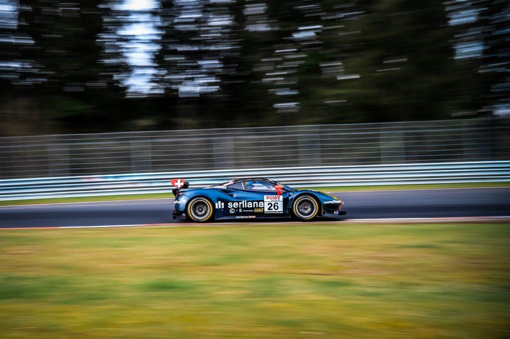 Björn Grossmann Simon Trummer Jonathan Hirschi Luca Ludwig Octane 126 Ferrari 488 GT3 Nürburgring Langstrecken-Serie Nürburgring-Nordschleife