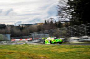 Kevin Estre Michael Christensen Lars Kern Manthey-Racing Porsche 911 GT3 R Nürburgring Langstrecken-Serie Nürburgring-Nordschleife