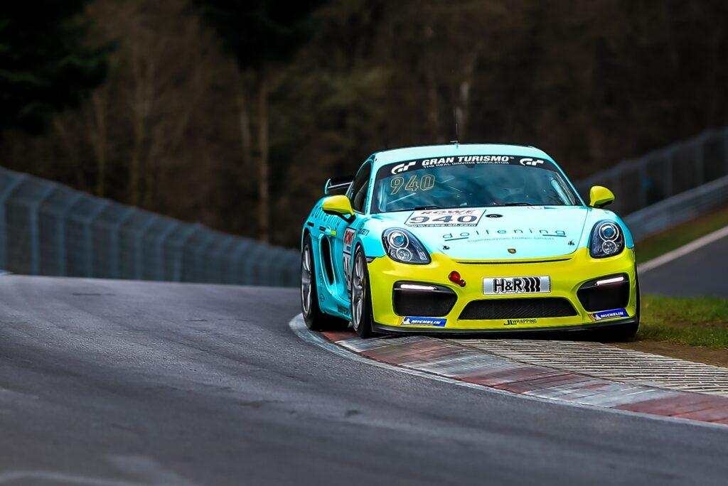 Heinz Dolfen John Lee Schambony Porsche 718 Cayman GT4 Clubsport MR Nürburgring Langstrecken-Serie Nürburgring-Nordschleife