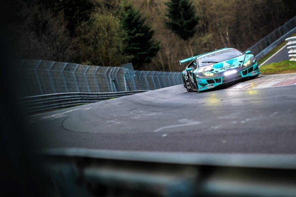 Axcil Jefferies Michele Di Martino Konrad Motorsport Lamborghini Huracan GT3 Nürburgring Langstrecken-Serie Nürburgring-Nordschleife