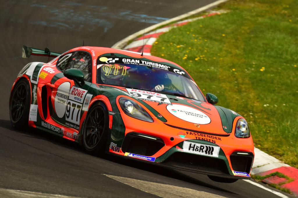 Karsten Krämer Alexey Vermenko Henning Cremer KKrämer Racing Porsche 718 Cayman GT4 Clubsport MR Nürburgring Langstrecken-Serie Nürburgring-Nordschleife