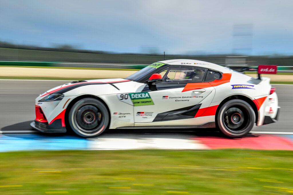 Nico Verdonck Stephane Kox Ring Racing Toyota GR Supra GT4 DTM Trophy Lausitzring