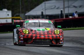 Zach Robichon Laurens Vanthoor Pfaff Motorsport Porsche 911 GT3 R IMSA WeatherTech Sportscar Championship Mid Ohio