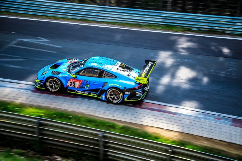 Nico Menzel Marco Seefried Philipp Neuffer Stefan Aust Huber Motorsport Porsche 911 GT3 R 24h Qualifikationsrennen Nürburgring
