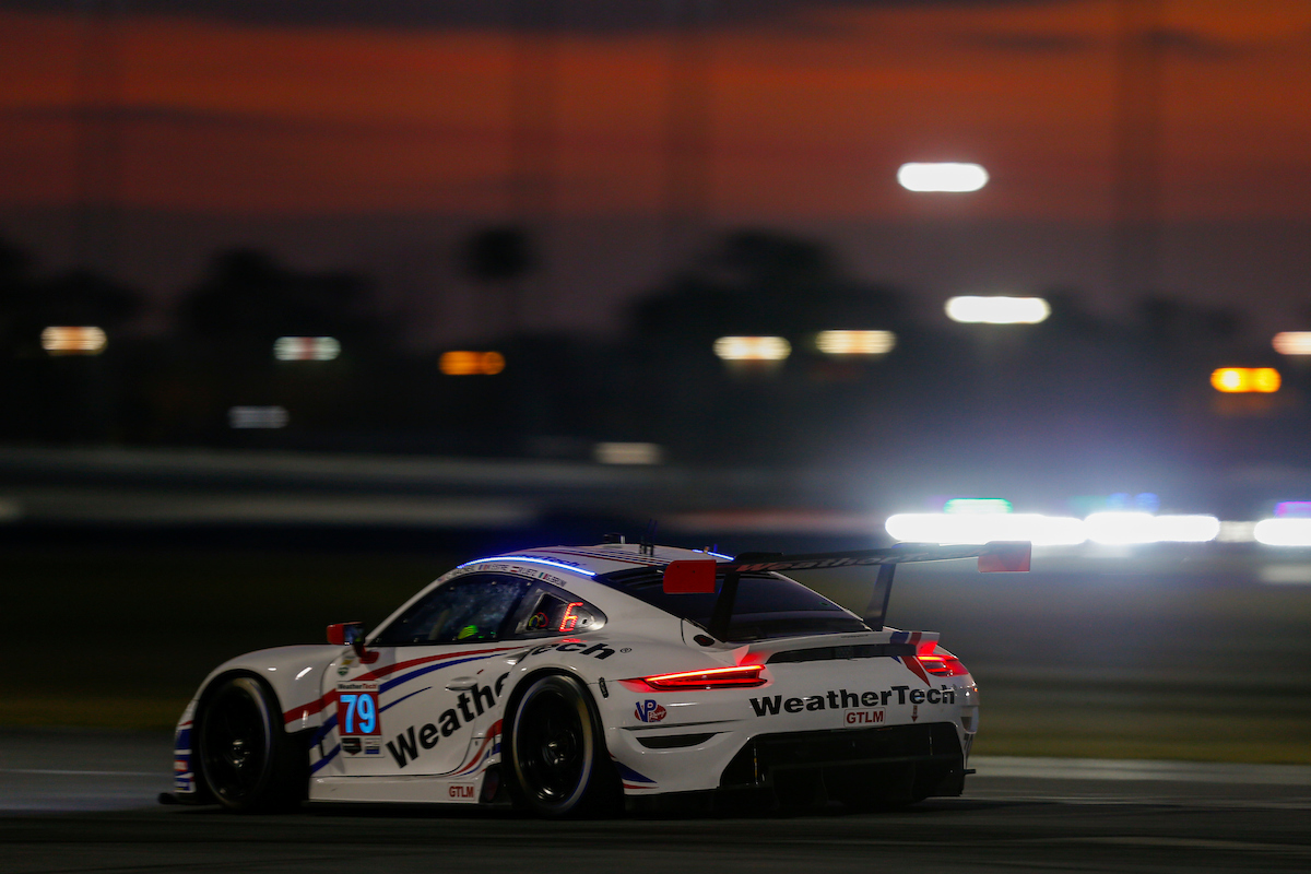 Richard Lietz Gianmaria Bruni Kevin Estre Cooper MacNeil WeatherTech Racing Porsche 911 RSR IMSA WeatherTech SportsCar Championship 24h Daytona