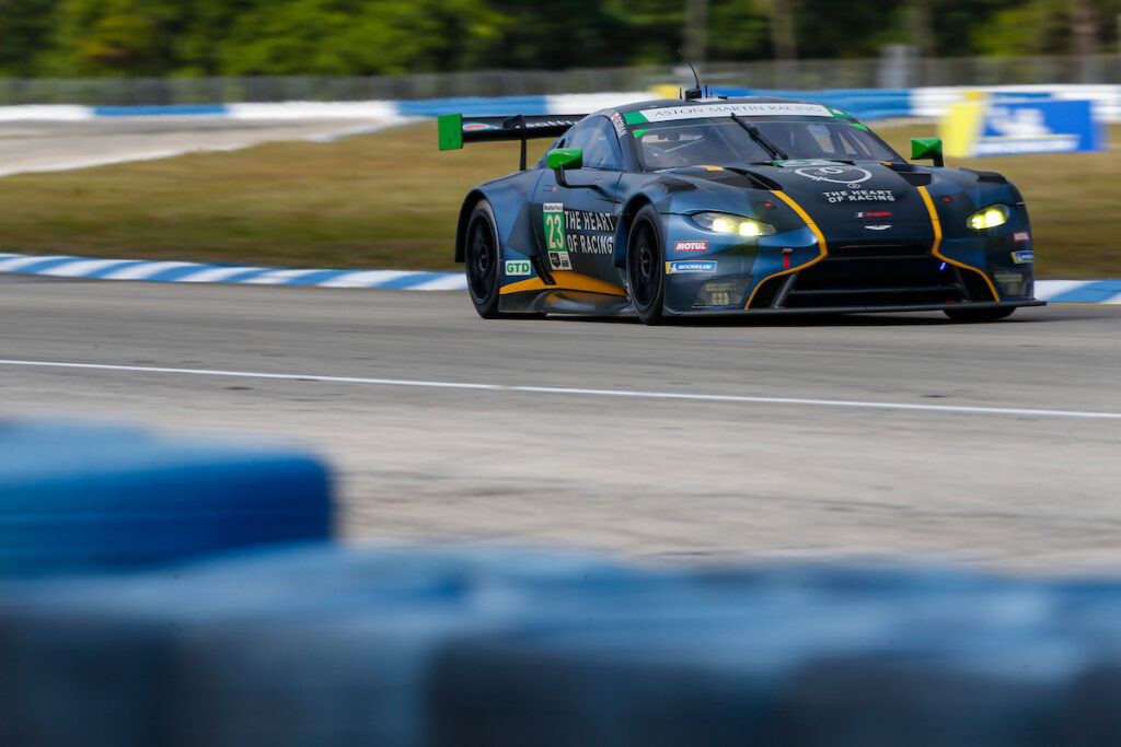 Ian James Ross Gunn Roman de Angelis Heart of Racing Aston Martin Vantage GT3 IMSA WeatherTech SportsCar Championship Sebring