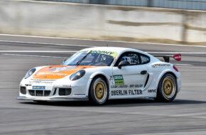 Tim Heinemann Leon Koslowski PROsport Racing Porsche Cayman Pro4 DTM Trophy Lausitzring