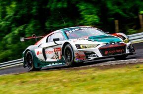 Kelvin van der Linde Christopher Mies Rene Rast Frédéric Vervisch Audi Sport Team Land Audi R8 LMS GT3 24h Nürburgring