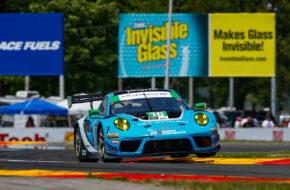 Patrick Long Jan Heylen Trent Hindman Wright Motorsports Porsche 911 GT3 R IMSA WeatherTech SportsCar Championship Watkins Glen
