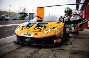 Mike David Ortmann Clemens Schmid Grasser Racing Team Lamborghini Huracan GT3 ADAC GT Masters Oschersleben